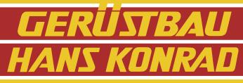 Banner Gerüstbau Hans Konrad Frankfurt.
